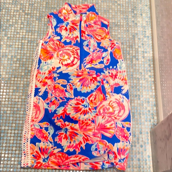 Lily Pulitzer cover up dress with zipper.